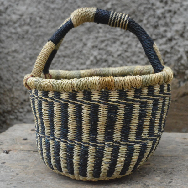 Blue Small Bolgatanga Basket