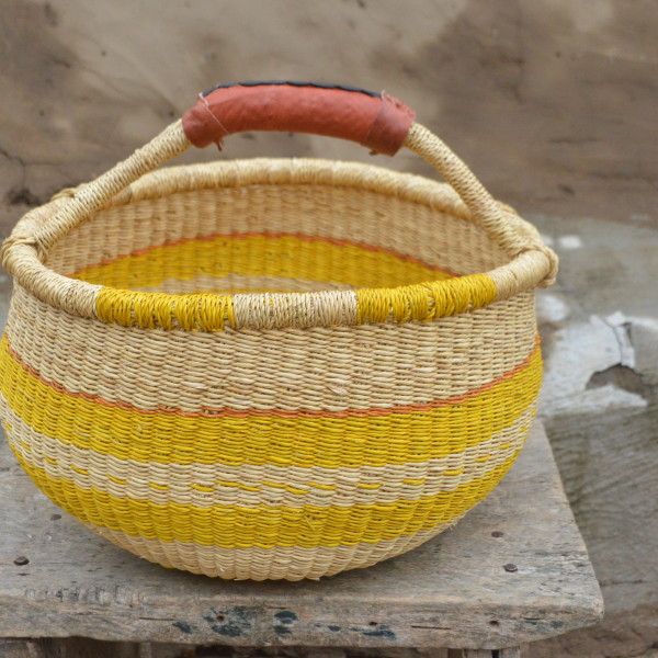 Yellow Bolgatanga Basket