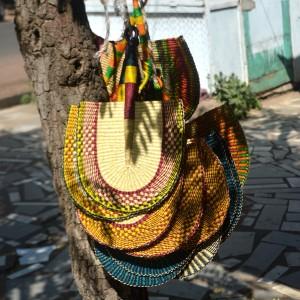 Bolga fans - hand woven Ghana fans - handmade straw fans