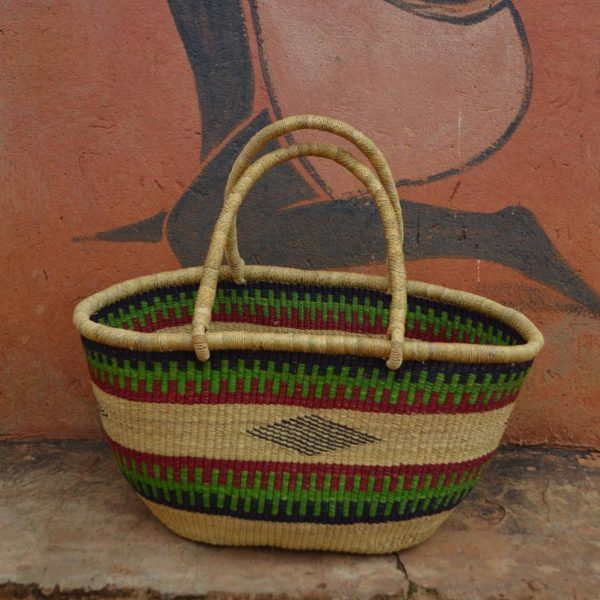 oval basket green red black designs wholesale